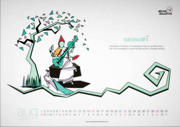 Saraswathi Goddess by HeyShiv