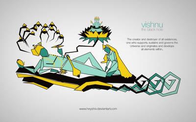 Vishnu - The Black Hole by HeyShiv