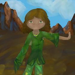 Green Girl by Zjossy