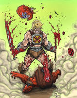 He-Man 'Blood Raged' by dnmn89