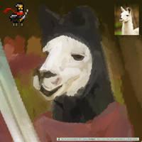 Ninja Llama by ChocoStyle