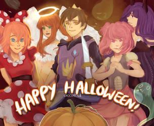 DDLC Halloween~ by ChocoStyle