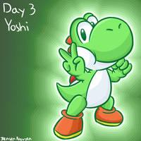 Smashvember Day 3: Yoshi by 4bitscomic