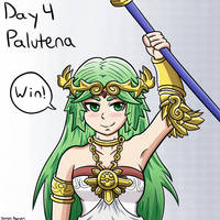Smashvember Day 4: Palutena by thegamingdrawer