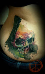 Watercolor Skull by koraykaragozler