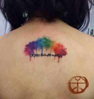 Watercolor rainbow by koraykaragozler