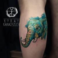 Abstract Elephant by koraykaragozler