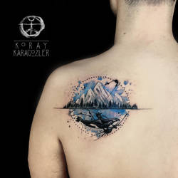 Orca and Mountain by koraykaragozler
