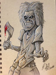 Eddie the Head - Iron Maiden Killers Album by ThePsychoticEnigma