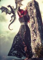 Pretresse au Dragon by LaMuserie