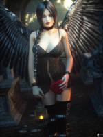 Black Angel 2 by LaMuserie