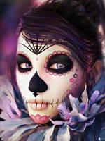 Santa Muerte Portrait 2 by LaMuserie