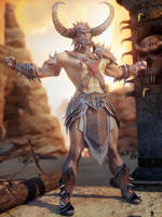 Tribal Man 3 by LaMuserie