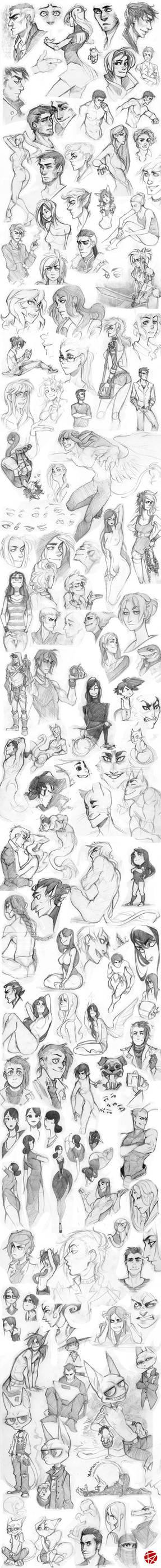 Sketch dump 01 by GoldenTar