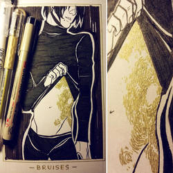 Ink/GrossTober 1: Bruises by GoldenTar