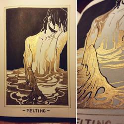 Ink/GrossTober 15: Melting by GoldenTar