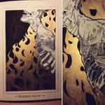 Ink/GrossTober 26: Burned Alive by GoldenTar