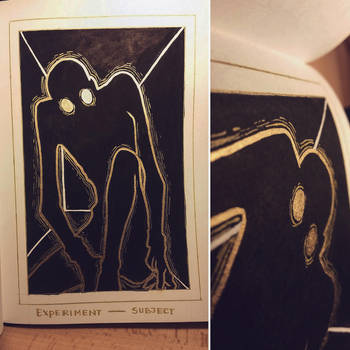 Ink/GrossTober 30: Experiment Subject by GoldenTar