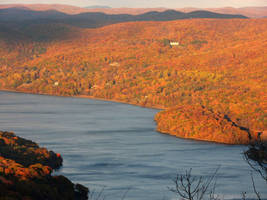 Hudson Autumn Sunset by body-electric