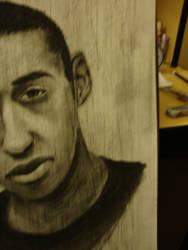 Self portrait in charcoal pt2 by KikButtPanda