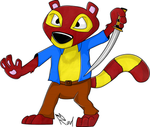 Request - Fur Fighters: Chang by RadSpyro
