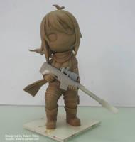 Rei Chibi - clay version by DharkerStudio