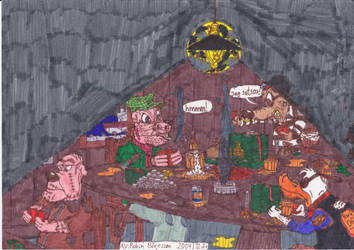 Throwback Thursday: Thugs Playing Poker (2004) by RobmanCartoons
