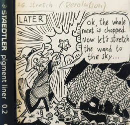 Inktober Comic 2018 - day 26: Stretch by RobmanCartoons