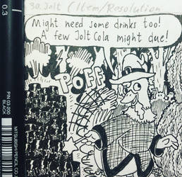 Inktober Comic 2018 - day 30: Jolt by RobmanCartoons
