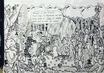 Inktober Comic 2018 - day 31: Slice (Final) by RobmanCartoons
