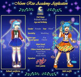 Mirai Fubukis Appklication for MRA by jolie-souris
