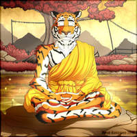 Meditating Tiger by FloydKangaroo