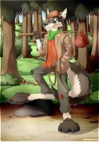 Maximilian the Kangaroo-Wolf Vagrant by FloydKangaroo
