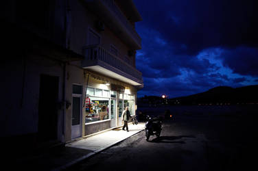 Leros Nightscapes - gettin' some wine by mrtso