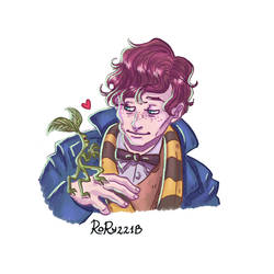 Newt Scamander and Pickett by Rory221B