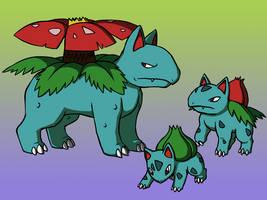 The Bulbasaur Family by BlazeDGO