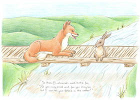 The Fox in the Water by Azerane