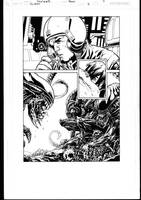 Aliens 2 page 7 inks by MarkIrwin