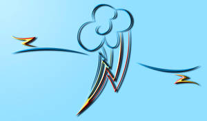 3D Rainbowdash Wallpaper by InternationalTCK