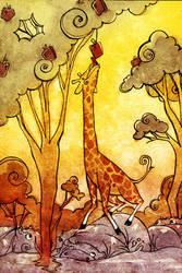 Giraffe luv by neomonki