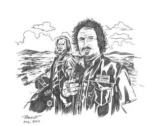 Sons Of Anarchy Tig and Opie by Schoonz