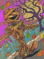 The Pumpkin Mummy by Schoonz