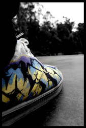 shoe graffiti design by rollingphotographer