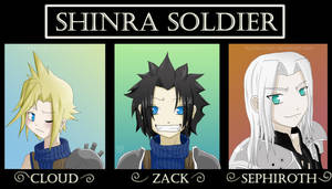 FF VII-The Shinra SOLDIER unit by Koriiko-chan