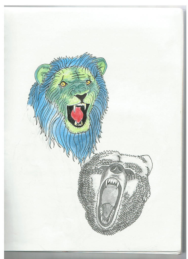 Lsd lion and bear puma of the night on deviantart jpg 762x1048 Pcp bear ae137221c
