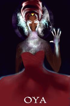 Black Goddess Oya Orisha by numythology