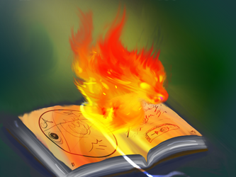 Tome of Fire Summoning by stillalivex