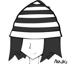 The man with the hat. Beanie. by reverseg