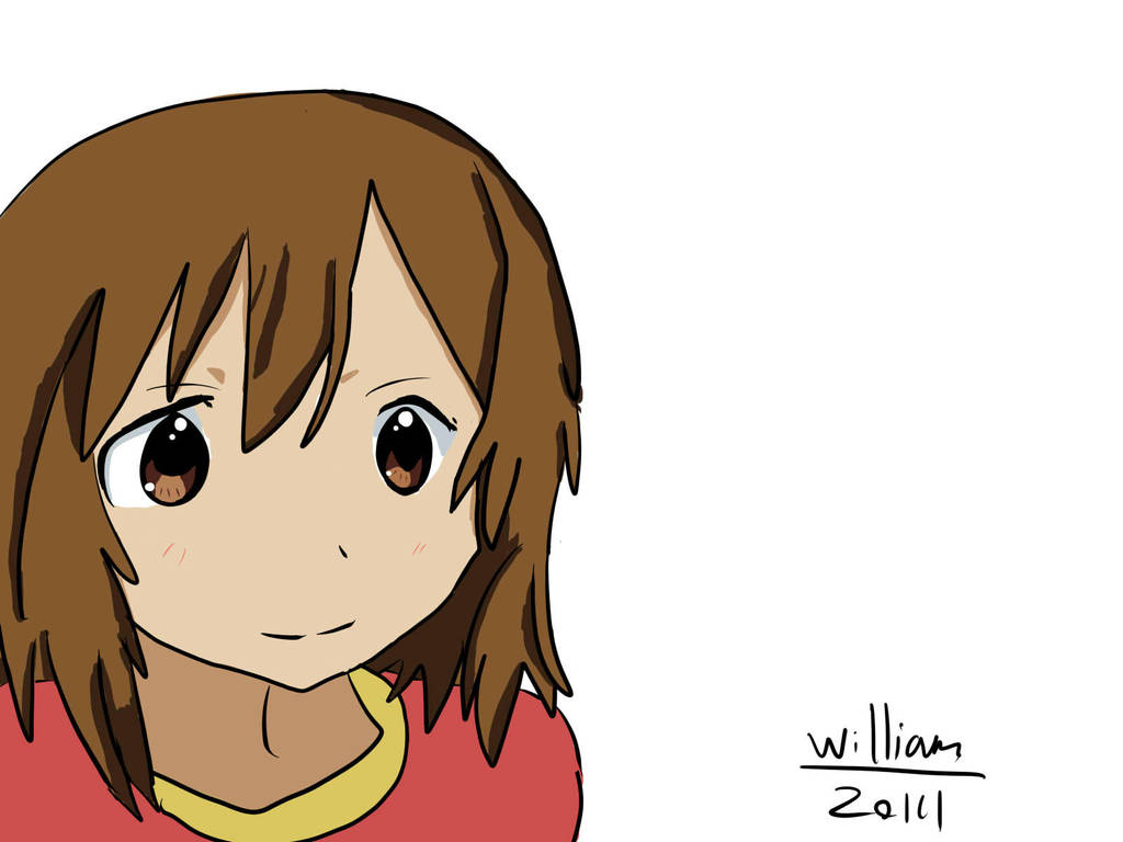 Badly drawn anime girl