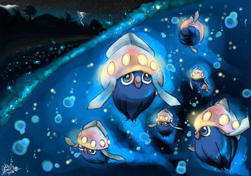 Pokemon Inkay- Glowing in the dark by Nahlarys